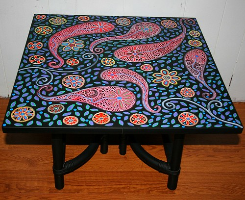 "Coffee Table 24"" x 24"" x 16.5"" by Rick Cheadle Art and Designs"