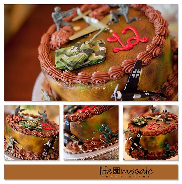 Camo Cake Collage
