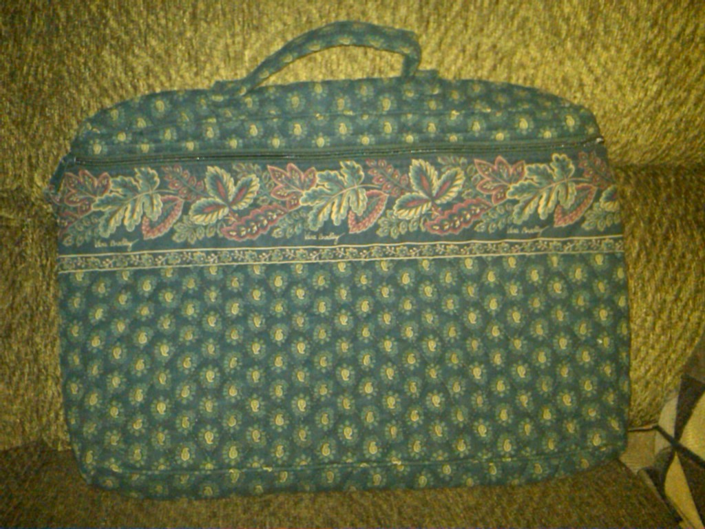 Classic Green Laptop Bag/Briefcase-SOLD