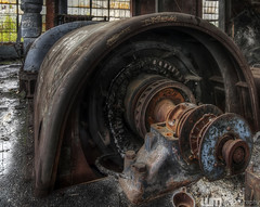 Big Guy Front End (billmclaugh) Tags: urban plant abandoned industry photoshop canon rebel industrial factory pennsylvania ashley tokina urbanexploration coal 1224mm hdr highdynamicrange urbex photomatix coalbreaker xti viveza promotecontrol ashleyhuberbreaker