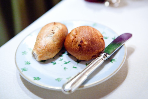 Rosemary demi-baguette & pear roll