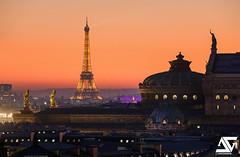 Opéra Garnier (A.G. Photographe) Tags: anto antoxiii xiii ag agphotographe paris parisien parisian france french français europe capitale d810 nikon nikkor 70200vrii toureiffel eiffeltower opéragarnier sunset grandpalais