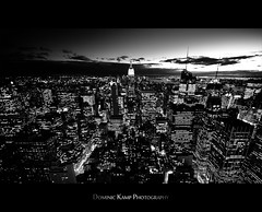 On the top of the world (Dominic Kamp) Tags: new york city blue sunset panorama usa sun moon building yellow statue america skyscraper square stars liberty evening high nikon warm view state sigma ground center beam madison empire times rays chrysler rockefeller 1020mm avenue 5th zero hdr clowds dominic 6th kamp d300