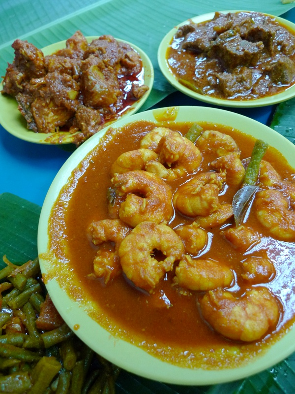 Curry Prawns, Chicken and Mutton