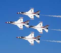 Thunderbirds (sabian404) Tags: plane airplane flying fighter force martin aviation smoke air united jet demonstration f16 falcon states thunderbirds fighting lockheed usaf squadron afterburner f16c