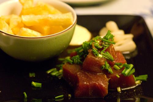F&L sashimi & chips