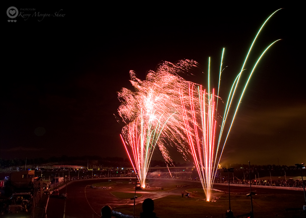 Fireworks at the Raceway