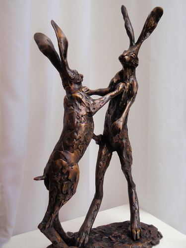Fighting hares