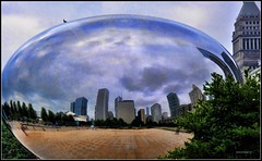 The Bean - Cloud Gate - Chicago (DMoutray - Denny Moutray Photography) Tags: chicago skyline cloudgate thebean 2009 coth supershot brillianteyejewel nilond90 dmoutray chicagod90