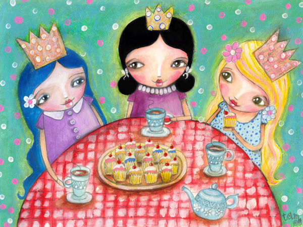 tea party with cupcakes!