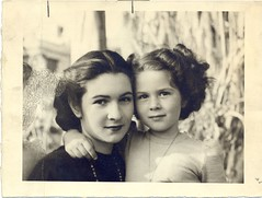 Ex-Queen Farida with daughter Princess Ferial