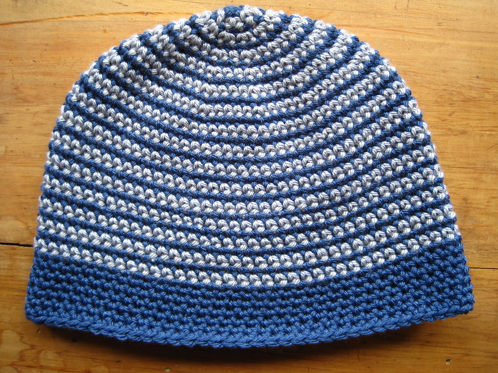 Crocheting A Beanie : Men?s size beanie made in Debbie Bliss Cashmerino Aran - can?t ...