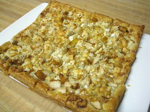 Pear and Blue Cheese Squares