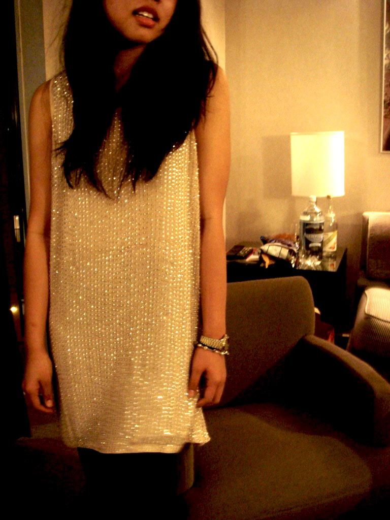 sequined haute hippie dress