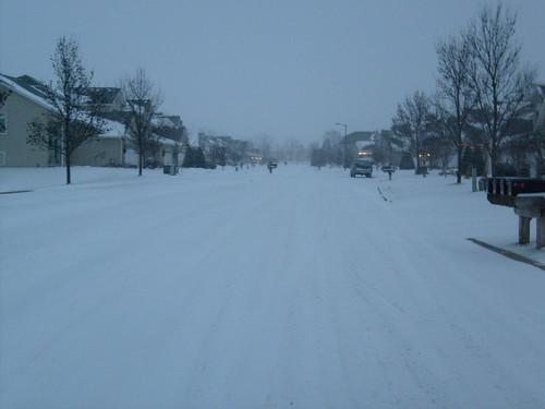 Snowy Sunset Drive
