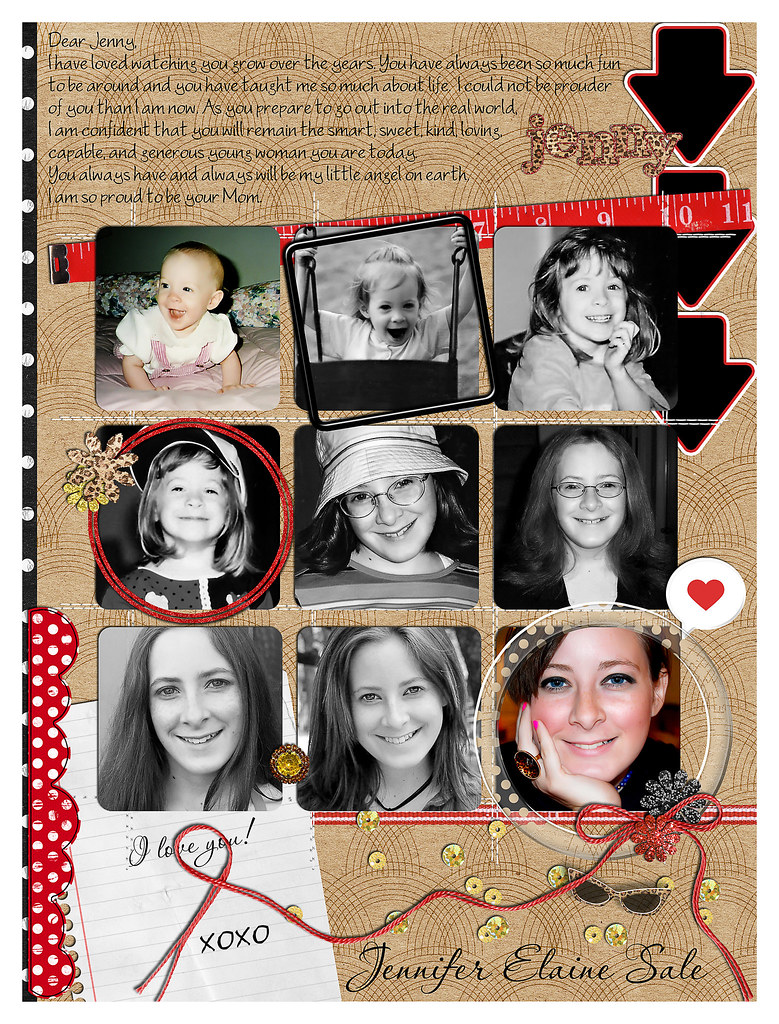 Jenny's Senior Page for Yearbook (8.25x11)