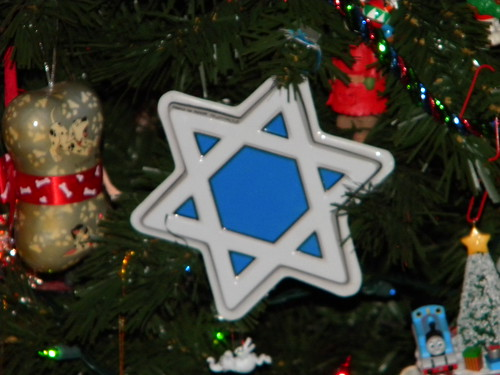 Jewish Star on the Christmas Tree