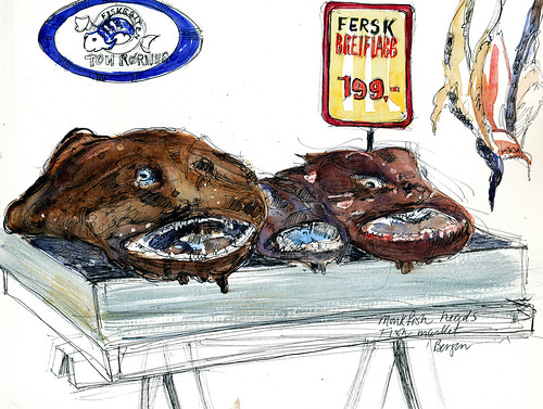 Norway, Bergen fishmarket