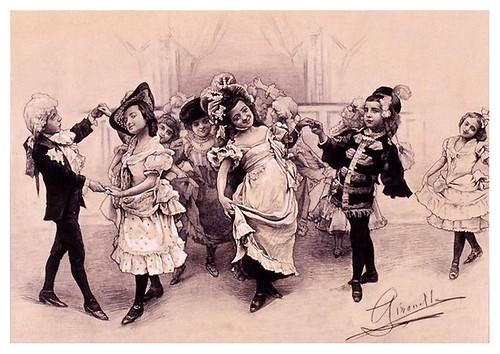 I.E.A. 8 MARZO 1901-1.º N.º IX. Pág. 145. BAILE DE NIÑOS- DIBUJO DE MME. GIRONELLA