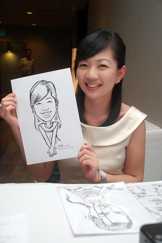 Caricature live sketching for Lonza - 24