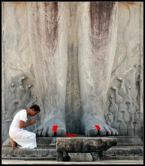 faith (Aravindan Rajaram) Tags: red india statue stone temple worship faith religion monolith jain bahubali karkala gomateshwara top20india pcafaith lpworship oofdec09