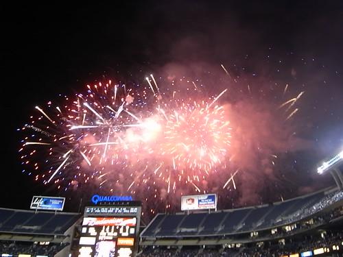 Halftime Fireworks