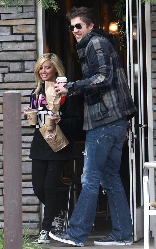 Ashley Tisdale And Scott Speer Out Getting A Coffee In Toluca Lake