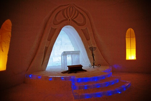 Chapel in the ice hotel