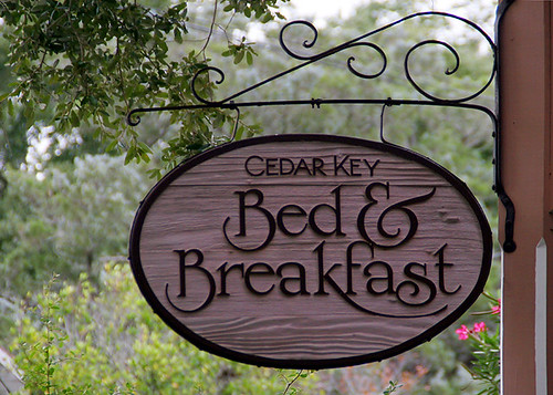 Cedar Key Bed & Breakfast Sign 2009