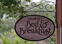 Cedar Key Bed & Breakfast Sign 2009 (MickiP65) Tags: travel november vacation usa tourism sign inn florida getaway signage northamerica fl bb bedbreakfast bedandbreakfast fla 2009 cedarkey levy allrightsreserved copyrighted canonef75300 canoneos30d michellepearson 110909 11092009 mickip65 20091109 nov092009 img0030001