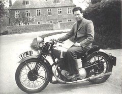 Dad on Calthorpe, c1946