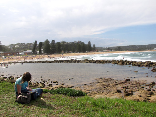 100105 Sketching at Avoca Beach