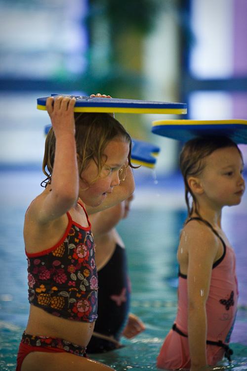 Oefening met zwemles