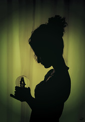 Celtic Dream (BeHiNaZ) Tags: girl silhouette persian nikon friend dream iranian ida aida snowglobe d90 ayda celticdream      sayyedehbehnazhatami