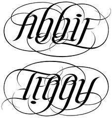 """Abbie"" & ""Terry"" Ambigram"