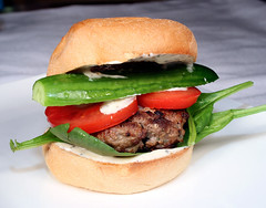 Ye Olde Burger: Beef Patty, Spinach, Baby Cucumber, Tomato, Mustard And Basil Dressing On A Pandesal Roll (AmazingSandwiches) Tags: stilllife food cooking vegetables canon tomato recipe beef toast cucumber egg salt sandwich spices ingredients garlic basil mustard onion dairy eats parsley patty sandwiches breads grub spinach meats grated groundbeef pandesal foodblog garammasala dressings eos30d sandwichrecipe recipeingredients 580exii foodrecipes cookingblog amazingsandwiches amazingsandwichescom sandwichrecipes rajmamasala pandesalroll sandwichstyles closedsandwiches amazingsandwich mustardandbasilsauce kaftapatty