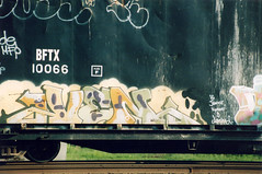 Ven AOK (The Egg Man) Tags: new york city nyc art car train writing out graffiti garbage artist all style kings ven freight amw aok krl