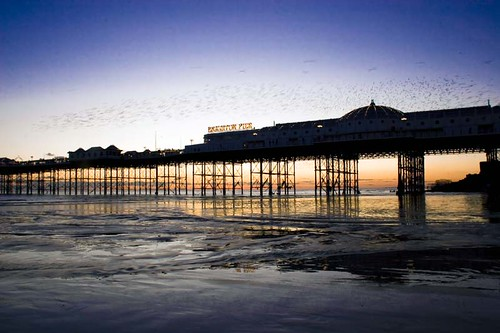 Brighton Pier at sunset 01