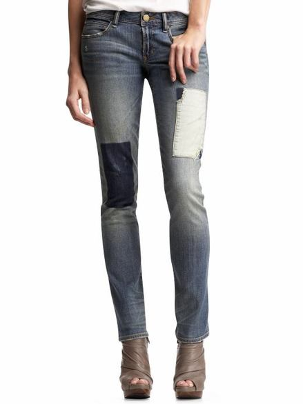 Patchwork denim jeans GAP