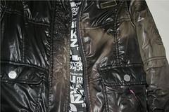 Discarded ladies Mckenzie Jacket (longyman) Tags: abandoned rotting trash found clothing shiny coat down clothes jacket rubbish waste discarded bomber nylon downcoat landfill padded rotted downjacket dugup thrownaway bomberjacket nyloncoat pufferjacket bubblejacket puffajacket nylonjacket puffercoat puffacoat bubblecoat