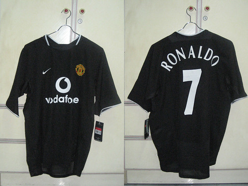 Manchester United 2003-2005 Away S/S (RONALDO - Pre-Qualifier Champions League)