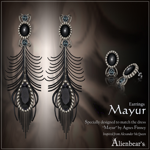 Mayur earrings black