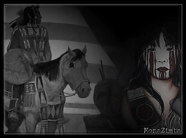 Oochigeas, native indians, montage, Monazimba, fireworks, amerindiens,legende
