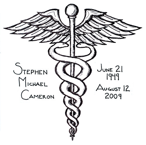 Caduceus Tattoo in memory of my