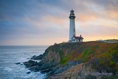 Pigeon Point Sunset - California Coast (Darvin Atkeson) Tags: ocean california park sunset sea usa lighthouse beach america point us state pacific pigeon seagull repair     darvin   atkeson  darv   liquidmoonlightcom