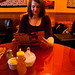 Student Haleigh Hershberger enjoys a night in downtown Harrisonburg at Earth and Tea Cafe.