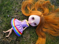 Tori (Brentments) Tags: she gay winter favorite wearing vintage outdoors death march is amazing rainbow doll day dress lol gorgeous working pride it redhead creation to kenner blythe fabulous tori 1972 adore 2010 faerymade faerys sidepart