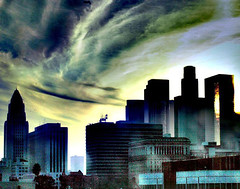 Something Stirring Over the Skies Of LA (d_rod) Tags: losangeles socal downtownla southerncalifornia myla drod laskyline yourverybest simplyperfect