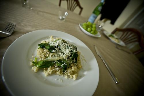 Quinoa a la Florentine
