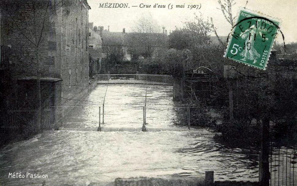 crue à Mézidon le 5 mai 1907